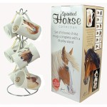 Spirited Horse Bone China Mug Set & Stand