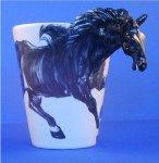 Medium Horse Mug - Black Horse