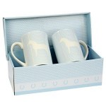 Twin Set Blue Mugs - Arab Welsh Pony - In Presentation Box t e
