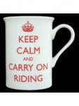 Keep Calm and Carry On Riding China Mug in Gift Box t e