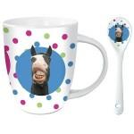 Pucker Up Comic Horse Mug and Ceramic Spoon Set t e