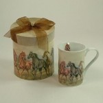 Horses Design China Mug in Coordinating Gift Box E T P