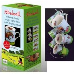 6 Mugs And Display Stand Thelwell Theme